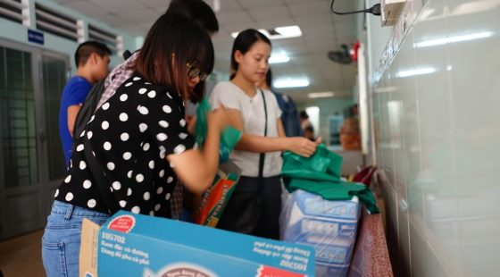 Helping out the elderly in Vinh Son